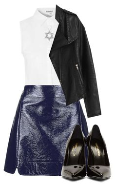 """."" by rocky567 ❤ liked on Polyvore featuring Glamorous, Topshop, Yves Saint Laurent and Diamond Star"