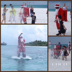 A special guest came to visit Coco Collection guests during the festive period, without the aid of any reindeers. #Maldives #CocoCollection #Hotels