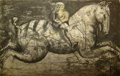 'Flux I' (2008) by South African artist Deborah Bell (b.1957). Drypoint, edition of 30, 55.1 x 72.7 cm. via Rose Korber Art