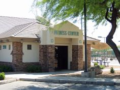 """Welcome to the """"Springwood"""" fitness center. One of two fitness centers in the Village. Pictured:  Fitness Center at Sunland Springs, Mesa, AZ."""