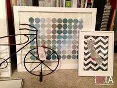 DIY: Circle art and city heart with felt Condo Design, Diy Design, Design Projects, Diy Artwork, Diy Wall Art, Wall Decor, Diy And Crafts, Paper Crafts, Circle Art