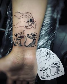Tim Burton Doggos Tattoo by: Dream Tattoos, Badass Tattoos, Future Tattoos, Sexy Tattoos, Body Art Tattoos, Small Tattoos, Sleeve Tattoos, Tattos, Funny Tattoos