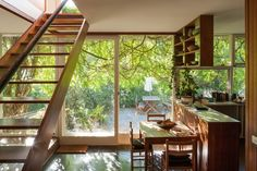 Designed in 1953 by Robin Boyd for Victor and Peggy Stone, this modest home in…
