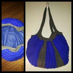 Fully lined crochet fat bag