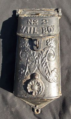 Vintage Standard Number 2 Cast Iron Mail Box Wall Mount