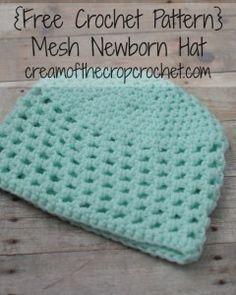 Mesh Newborn Hat ~ Cream Of The Crop Crochet