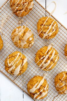 Pumpkin Pecan Scones with Brown Butter Glaze by joythebaker #Scones #Pumpkin #Pecan