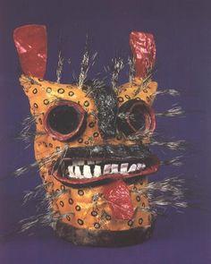Danza del TIgre mask, Zitlala, Guerrero, Mexico