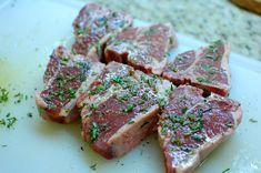 Pan Seared Rosemary Lamb Loin Chops with Balsamic Glaze | (recommended by Julie)
