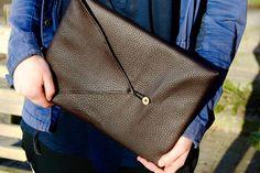 DIY: Leather Laptop Case