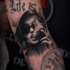 Had an amazing time filling this little spot on my friend's arm with the portrait of Marla Singer from Fight Club.
