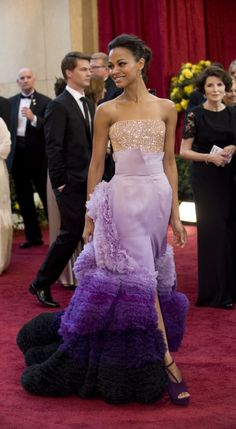 Oscars most iconic - 2010 - Zoe Saldana - Givenchy