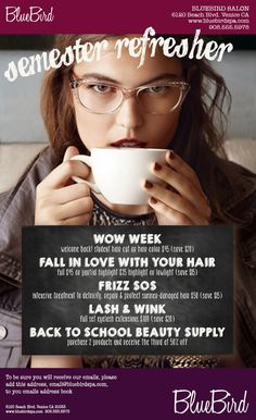 Semester Refresher our ready-made fall salon promotion. DONE FOR YOU marketing. Haircut Prices, Spa Promo, Salon Promotions, Hair Stations, Business Hairstyles, Salon Business, Healing Oils, Salon Style, Salon Design
