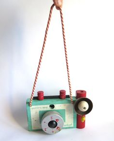 vintage wooden camera toy  for kids. vintage by needahouse on Etsy