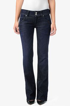 "The universally flattering Signature Bootcut silhouette in Petite length is fitted from waist to knee then breaks into a bootcut for a balanced, feminine profile. With an inseam of 31"" it is 3 inches shorter than our regular bootcut, creating the perfect fit for those who are more petite in height. For a classic, dark blue wear-with-anything jean, try our Savage wash."