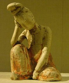 Tang Dynasty. Resting Dancer 7th Century China.
