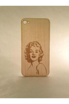 Marilyn Monroe Wood iPhone 4/4S Skin
