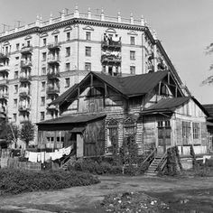 Угол 2-й Песчаной и Чапаевского переулка Деревенская Москва 50-х - 60-х годов XX века