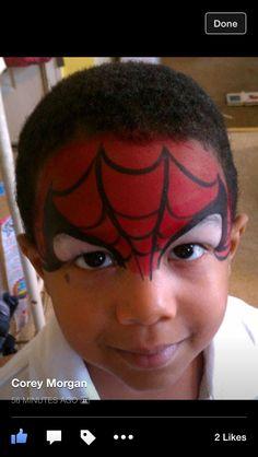 Half mask Spider-Man