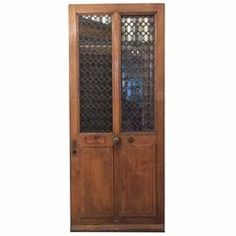 Single Antique French Door with Ironwork | From a unique collection of antique and modern doors and gates at https://www.1stdibs.com/furniture/building-garden/doors-gates/