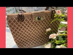 Louis Vuitton Speedy Bag, Louis Vuitton Damier, Childhood Asthma, Taking Shape, Crochet Videos, Knitted Bags, Crochet Designs, Straw Bag, Two By Two
