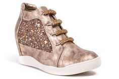 """Lady Couture """"Action"""" Crystal Wedge Sneakers"""