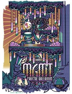 MGMT music gig posters | Guy's posters for Portugal the Man ( x 2 ) and MGMT will also be ...