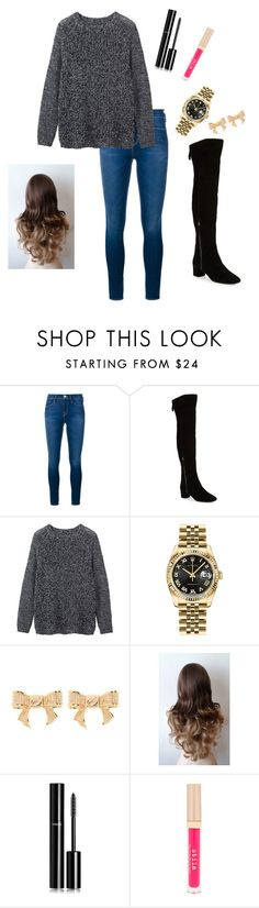 """""""Untitled #816"""" by vireheart ❤ liked on Polyvore featuring Frame Denim, Nine West, Toast, Rolex, Ted Baker, Chanel, Stila, women's clothing, women and female"""