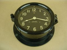 Chelsea Ship's Bell Vintage Military Clock