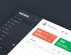 Neon - Flat Admin Template (WIP)