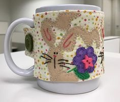 Stitch It and Gift It! – Ms P Designs USA Coffee Cup Cozy, Mug Cozy, Bright Spring, Spring Colors, Make A Mug, Work Friends, Blanket Stitch, Wool Felt, Special Gifts