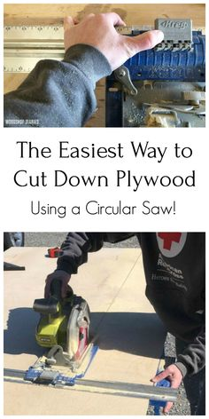 The Easiest Way to Cut Down Plywood Sheets