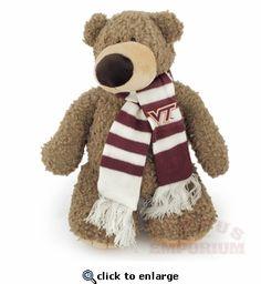 Soft & cuddly bear with a Virginia Tech scarf!