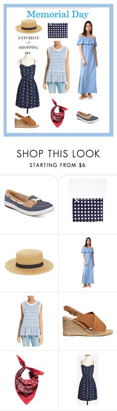 """""""Memorial Day: Saturday is for shopping"""" by lanaebond ❤ liked on Polyvore featuring Keds, Banana Republic, August Hat, Moon River, The Great., H&M, Forever 21 and J.Crew"""