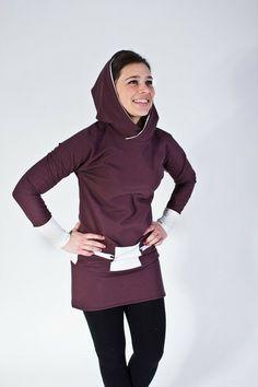 Farb- und Stilberatung mit www.farben-reich.com - Kapuzenkleid mit Reißverschlusstaschen von sorted-store auf DaWanda.com