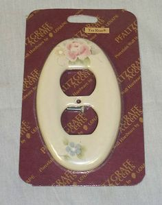 PFALTZGRAFF OVAL OUTLET CERAMIC DUPLEX COVER IN  TEA ROSE PATTERN WE HAVE FIVE LEFT LISTED ON eBay @ $9.98