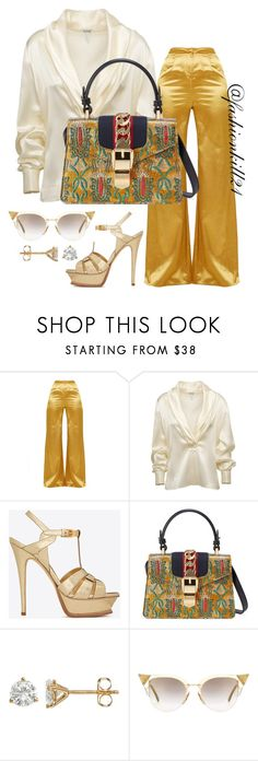 """""""Untitled #1441"""" by fashionkill21 ❤ liked on Polyvore featuring Loewe, Yves Saint Laurent, Gucci and Fendi"""