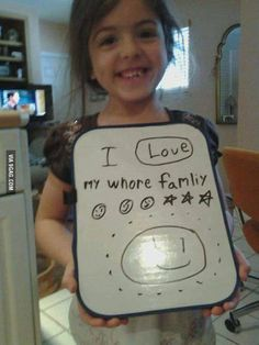 """""""The irony is that she's a perfect speller.""""  - Awkward Family Photos"""