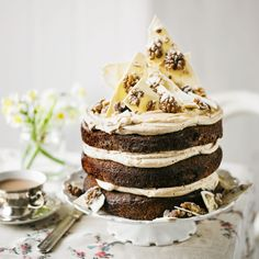 Martha Collison's coffee, white chocolate  & walnut cake, from waitrose site