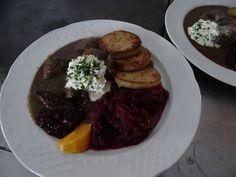 Hirschragout Jausenstation Bichlhof Milders Neustift Stubai Steak, Beef, Food, New Pins, Essen, Meat, Steaks, Meals, Yemek