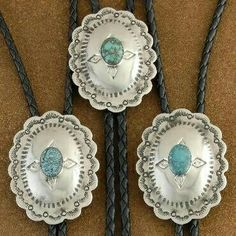 750a00c1b2a5 Turquoise Silver Bolo Ties S. Macias My grandfathers birthday would have  been yesterday.