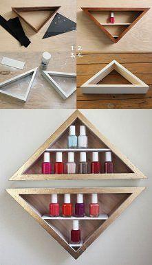 diy nail polish shelf