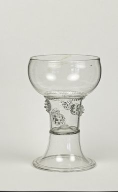 45E Large Colorless Glass Roemer, probably made in Northern Germany, 1700-1720 C