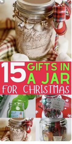 15 Mason Jar Christmas Gifts for Coworkers, friends, teachers, and family. Most of these DIY Christmas gifts in a jar are super cheap and easy to make! Perfect gift idea for women and men alike. Homemade recipes for edible gifts. Most of these recipes come with printable labels which makes it super quick to do! Have a stress free Christmas on a budget in 2021 Diy Gifts For Christmas, Mason Jar Christmas Gifts, Mason Jar Gifts, Gift Jars, Christmas Christmas, Christmas Gifts For Neighbors, Crafts To Make And Sell Unique, Christmas Crafts To Make And Sell, Diy Christmas Videos