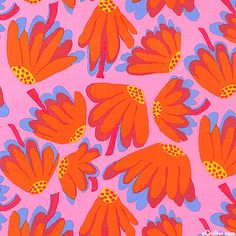 Kaffe Fassett Collective Spring 2014 - Lazy Daisy - Orchid Pink