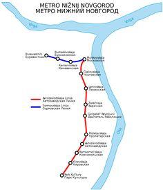 Nischni Nowgorod, früher als Gorky (1932 - 1991) bekannt, ist eine der größten russischen Städten. Da gibt es 1.25 Millionen Einwohner. Die Stadt ist 400km von Moskau entfernt, und befindet sich an dem Wolga und an dem Oka Fluss. Sie verfügt über ein rapides Transitsystem, das auch als U-Bahn Gorky bekannt wurde. Die U-Bahn operiert seit 1985 und besteht von 18.8km und 14 Stationen.