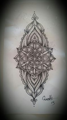 A seed of life long dotwork mandala designed for someone that didn't show for it so it's up for grabs at a lower rate.