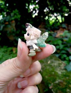 LOVE!!!!!!!!  Tiny fairy - OOAK bug pixie. $39.00, via Etsy.