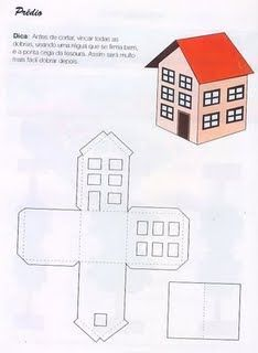 Pedagógiccos: Moldes de casas para maquete