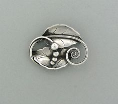 ESTATE GEORG JENSEN STERLING SILVER BROOCH PIN # 108